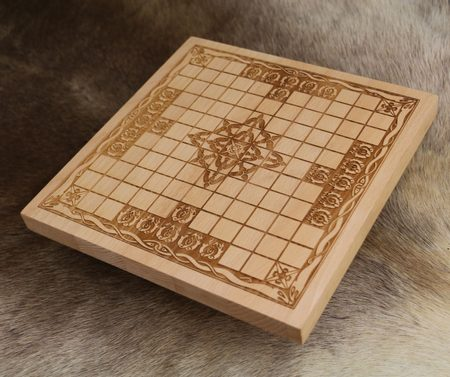 HNEFATAFL OR TAFL, VIKING BOARD GAME - WOODEN BOARD ONLY
