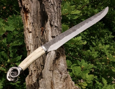 RAM Seax - forged knife with a ram's head