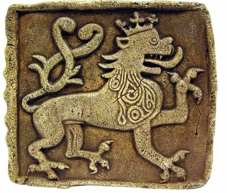 CZECH LION - the tile