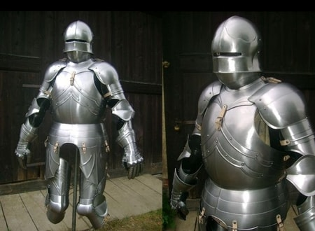 HALF SUIT OF ARMOUR, fully functional