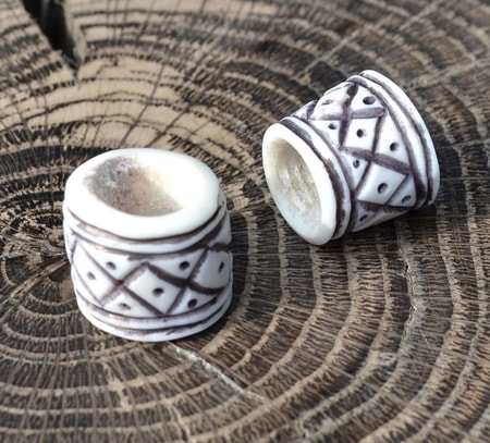Viking Beard Ring, deer antler