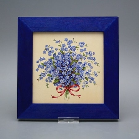 Forget-me-not, ceramic picture 20x20cm