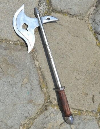 SINGLE HANDED MEDIEVAL WAR AXE, replica, central Europe