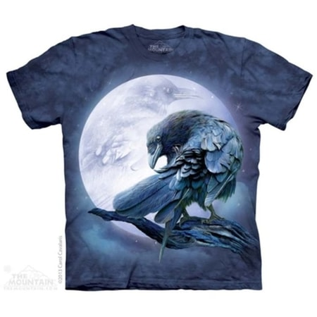 Raven Moon - Bird T-Shirt The Mountain
