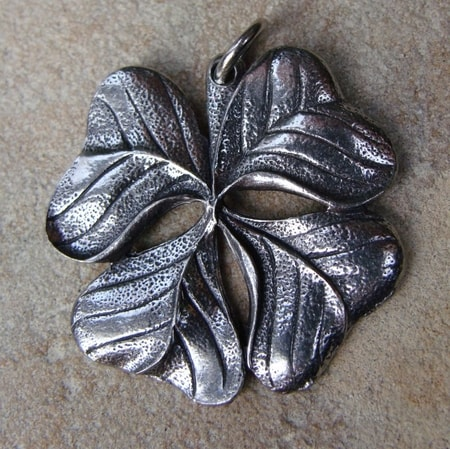 Four Leaf Clover, pewter pendant
