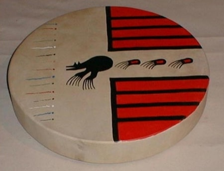 PAINTED SHAMAN'S DRUMS - DEERSKIN