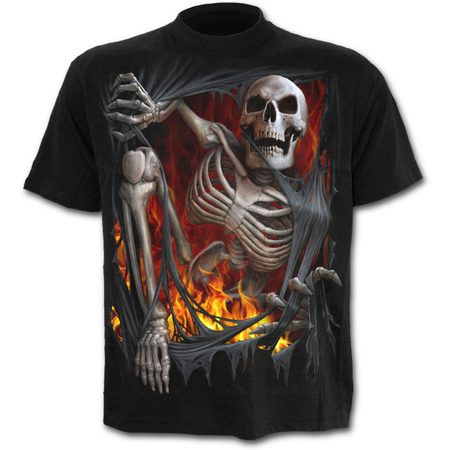 DEATH RE-RIPPED - T-Shirt Black, Spiral Direct