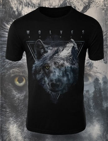 WOLVES SPIRIT, men's T-shirt