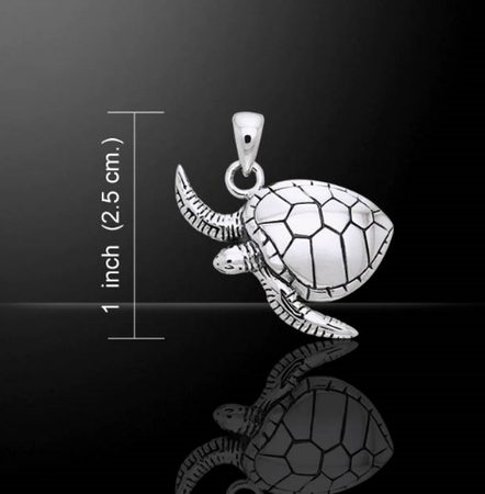 TURTLE, silver pendant, Ag 925