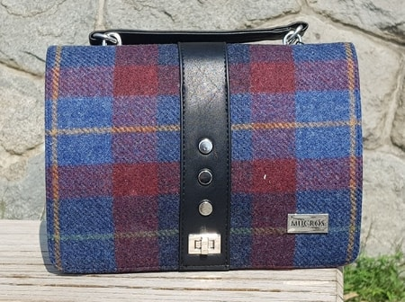 FIONA Shoulder Bag, red and blue, wool