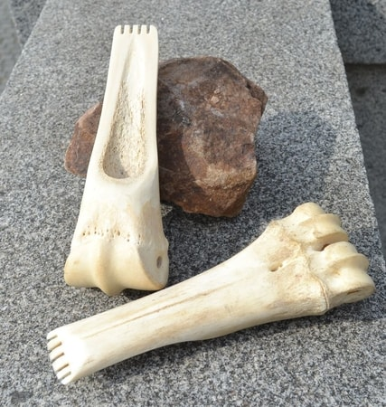 Bone tool for scraping animal hide