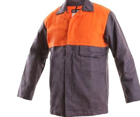 WELDING JACKET, ORANGE-GREY