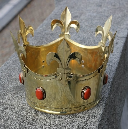 REX, Medieval Crown, brass