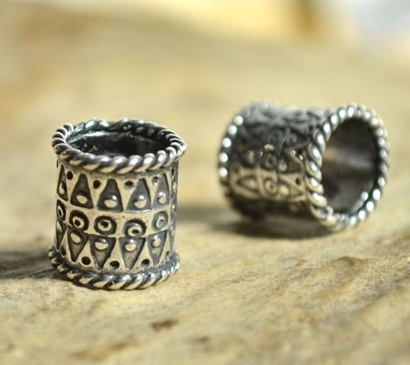 VIKING BEARD RING, sterling silver