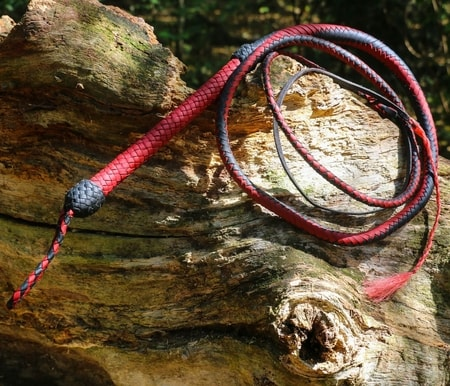 Braided Leather Cow Whip