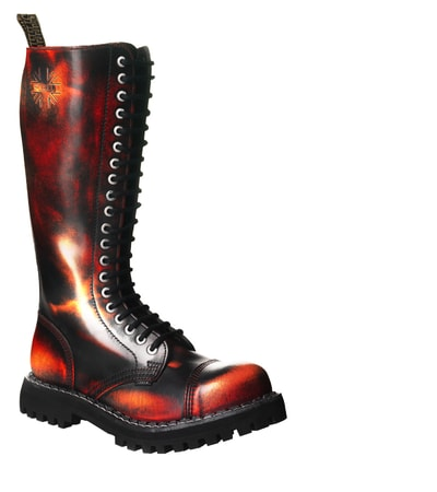 LEATHER BOOTS STEEL FIRE 20-EYELET-SHOES
