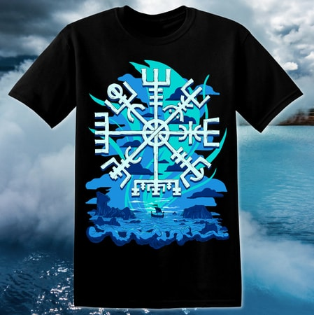 VEGVÍSIR, men's T-Shirt