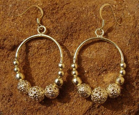 GREAT MORAVIAN EARRINGS, gold plated