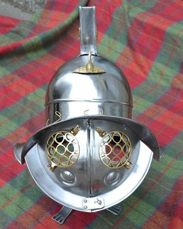 Roman Gladiator Helmet Museum Style Copy Wulflund Com