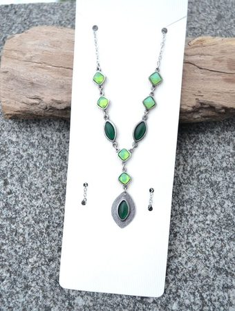 RHEA, green necklace