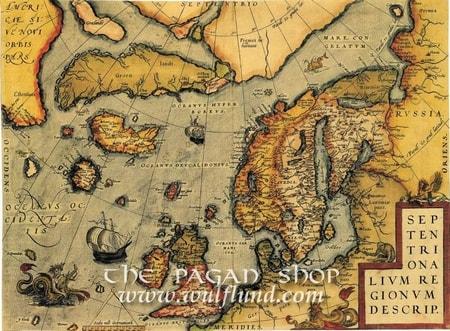 NORTHERN EUROPE, historical map, replica - wulflund.com