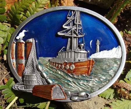 Old Ship At The Docs, belt buckle