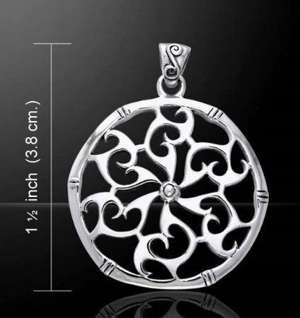 WISDOM OF THE WIND, silver pendant, Ag 925