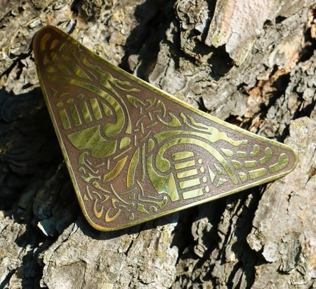 TRIANTAN, brass hair clip, Made in Ireland