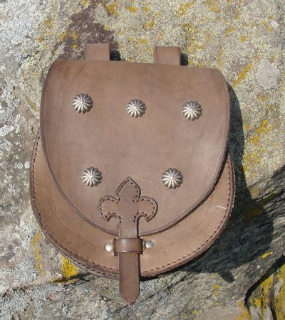LEATHER BAG, flowers