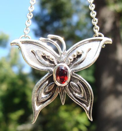 SILVER BUTTERFLY NECKLACE, AG 925
