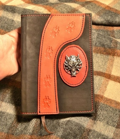 WOLF, hand made book of shadows, leather case