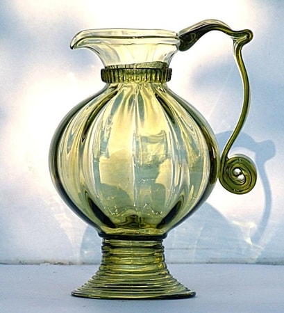 HISTORICAL GLASS JUG