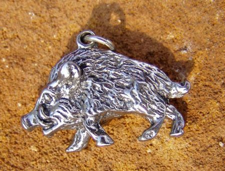 BOAR - coppered amulet