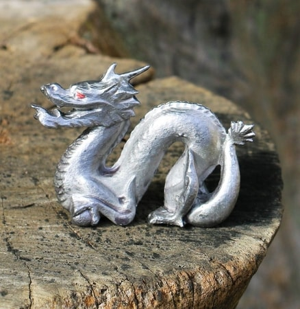 Chinese Dragon, tin figurine