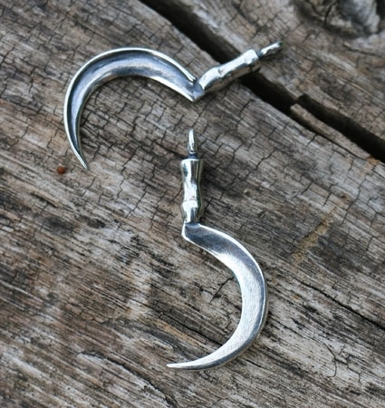 DRUID SICKLE, SILVER PENDANT