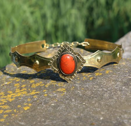 SIRAEL - MEDIEVAL GOTHIC CROWN WITH JASPER