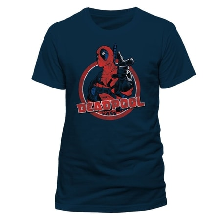 Deadpool - Logo Point, Unisex T-shirt - Blue