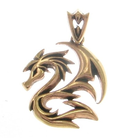 SCARY DRAGON, bronze pendant
