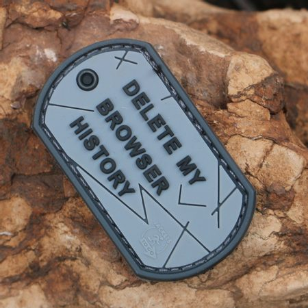 DELETE MY BROWSER HISTORY DOG TAG RUBBER PATCH
