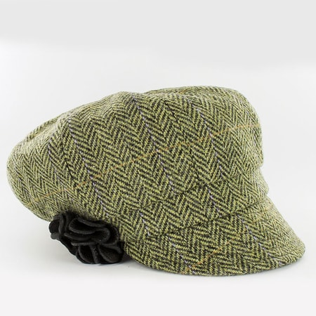 NEWSBOY CAP - Green, wool, Ireland