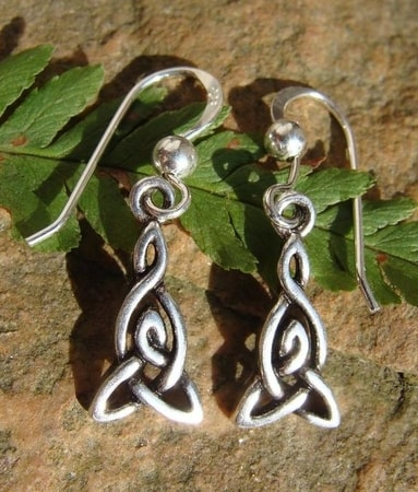 TREFOIL, silver earrings, Ag 925