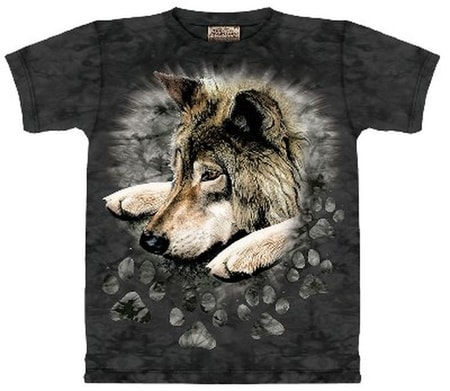 Wolf in Dye Paw - Wolf Shirt Mountain