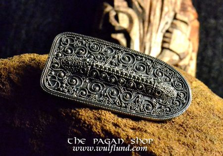VIKING BROOCH FROM EKETROP, SWEDEN, SILVER 925, 20,4 G