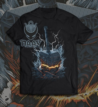 THOR'S HAMMER, MEN'S T-SHIRT, COLORED, NAAV