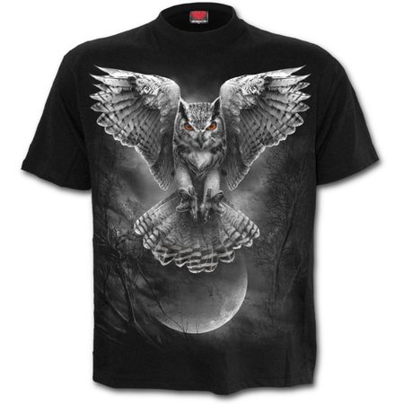 WINGS OF WISDOM - Front Print T-Shirt Black