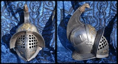 Gladiator Helmet, eagle and medusa