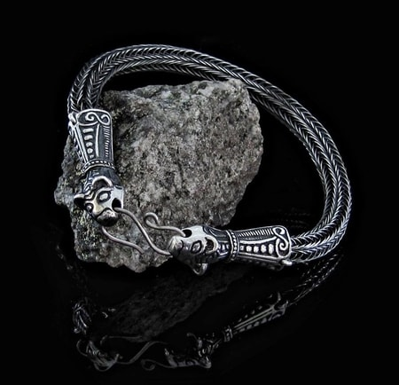 VIKING BRAIDED BANGLE, Borre style