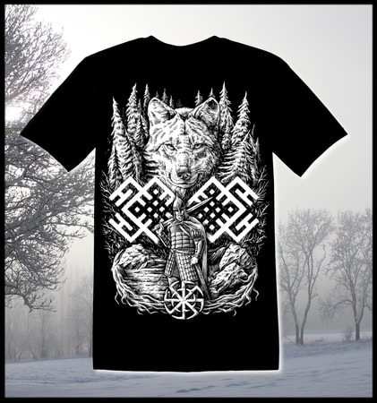 WOLF WARRIOR, Slavic T-Shirt
