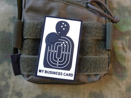 BUSINESS CARD, 3D VELCRO PATCH