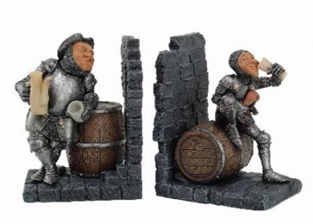 DRUNK KNIGHTS, Decorative Bookends